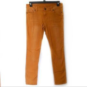 Rue21 mustard yellow stretchy skinny jeans EUC